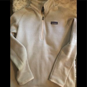Patagonia Zipped Pullover Cream   Oatmeal Color
